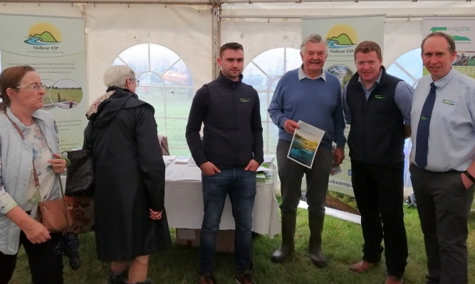 David Thompson (Mulkear EIP OG) with Teagasc staff at the Mulkear EIP stand at Cappamore Show 2019