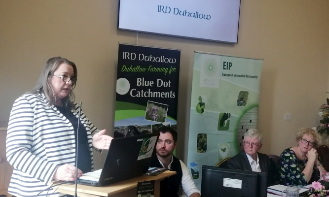 Maura Walsh (IRD Duhallow) spoke about the importance of supporting farmers and the environment