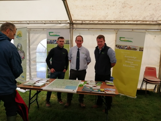 Local Teagasc staff at their stand at the Cappamore Show 2019